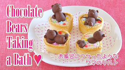 Chocolate Bears Taking A Bath For Valentine S Day Video Recipe