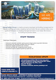Open Recruitment PT. Agung Sedayu Group 2019
