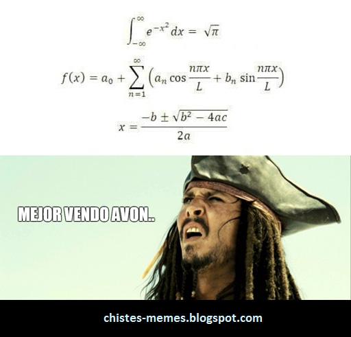 chiste mejor vendo avon matematicas jack sparrow chistes y memes meme matematica mejor vendo avon,Memes De Matematicas
