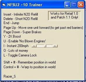 Need for speed underground 2 trainer unlocker free download.