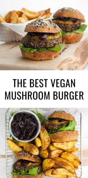 THE BEST VEGAN MUSHROOM BURGER!