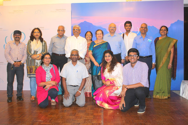 4.  Dr. Nivedita Shreyans (Director PR, Pillai Group) WITH HEARTFULNESS TEAM, during Announcement and Awareness BENEFITS OF MEDITATION in Mumbai Recently