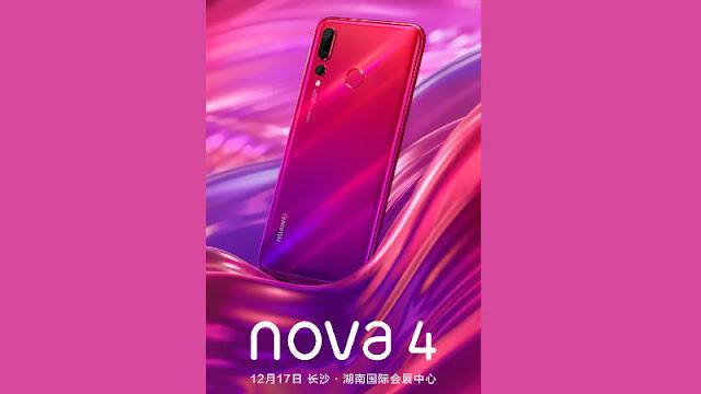 تسريبات جديدة تكشف عن التصميم الكامل لهاتف Huawei Nova 4