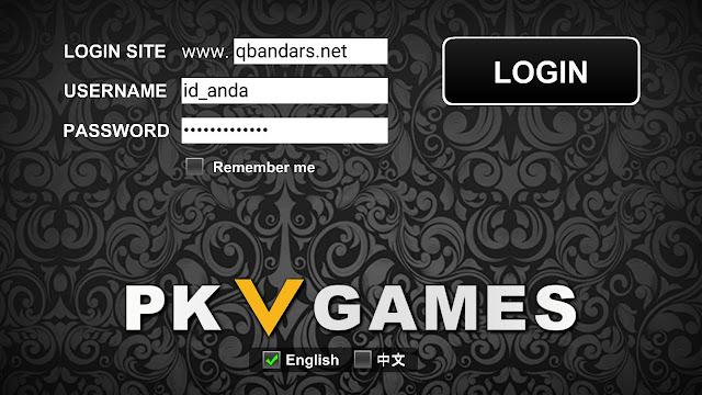 Format kolom saat melakukan login di situs QBANDAR