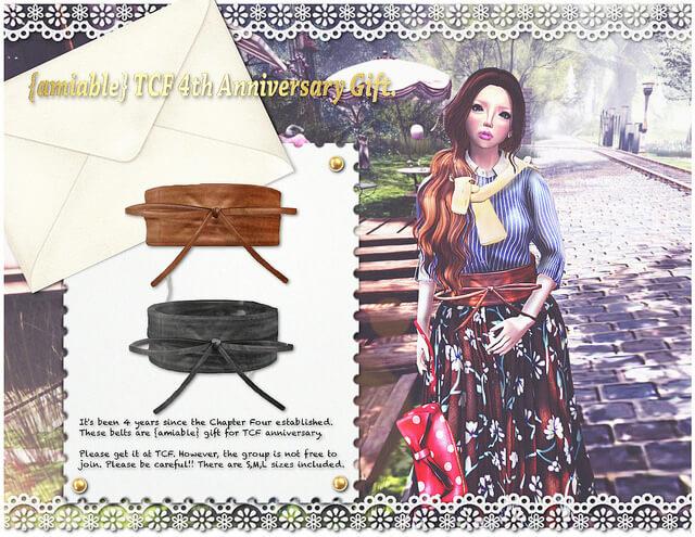 {amiable} TCF 4th Anniversary Limited Gift Belt@TCF.