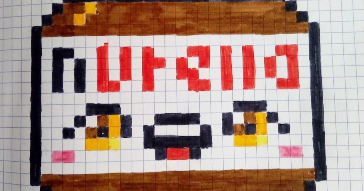 Qixels Art 73 Pixels Nutella