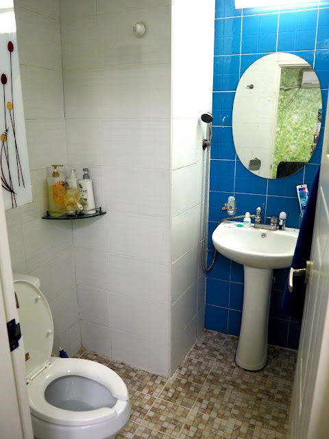 Bathroom inside studio apartment in Busan, South Korea