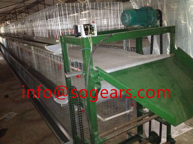 Conveyor belt reduction gears