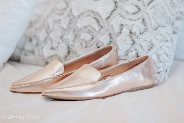 target gold loafers