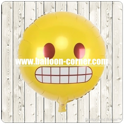 Balon Foil Emoji Grinning Face / Foil Emoticon Grinning Face