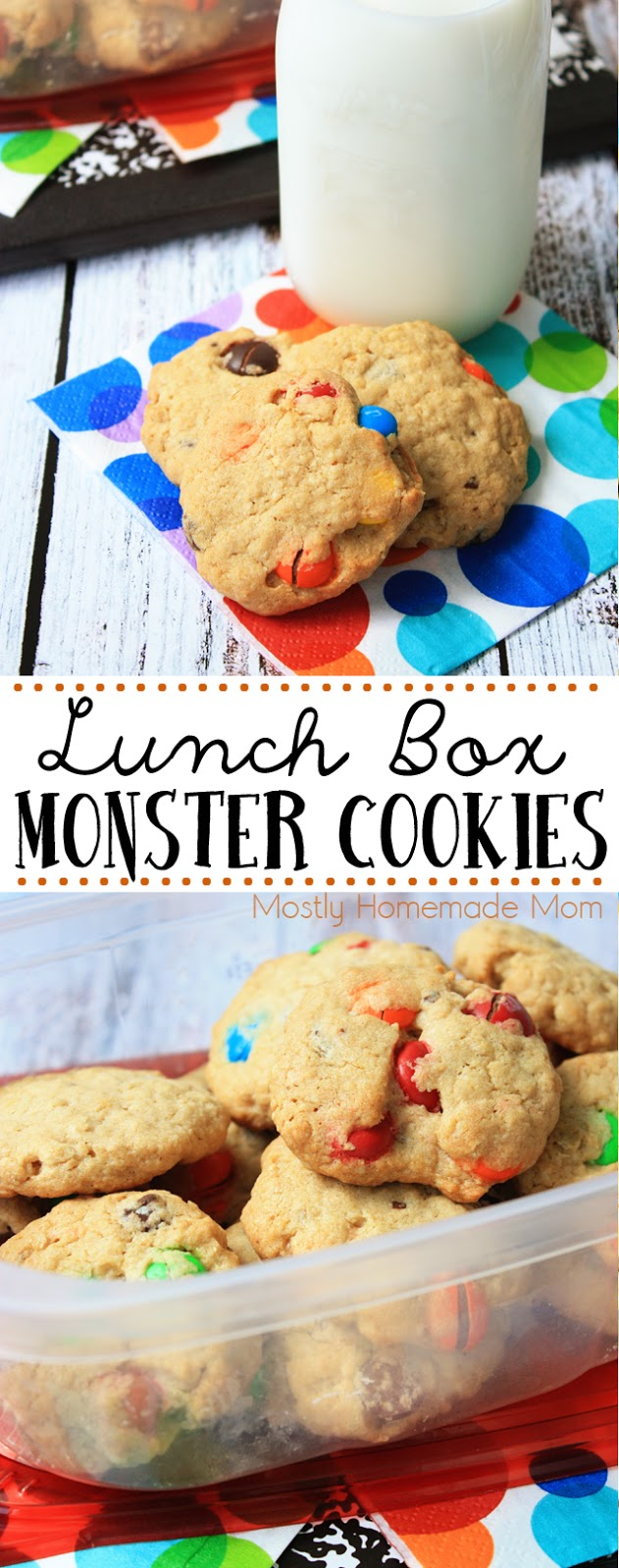 Lunch Box Monster Cookies Recipe