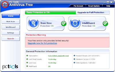 Download PC Tools Free Anti-virus Version 8 Microsoft Windows 7 , Windows Vista , Windows XP SP2