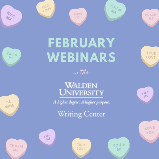 February webinars in the Walden University Writing Center