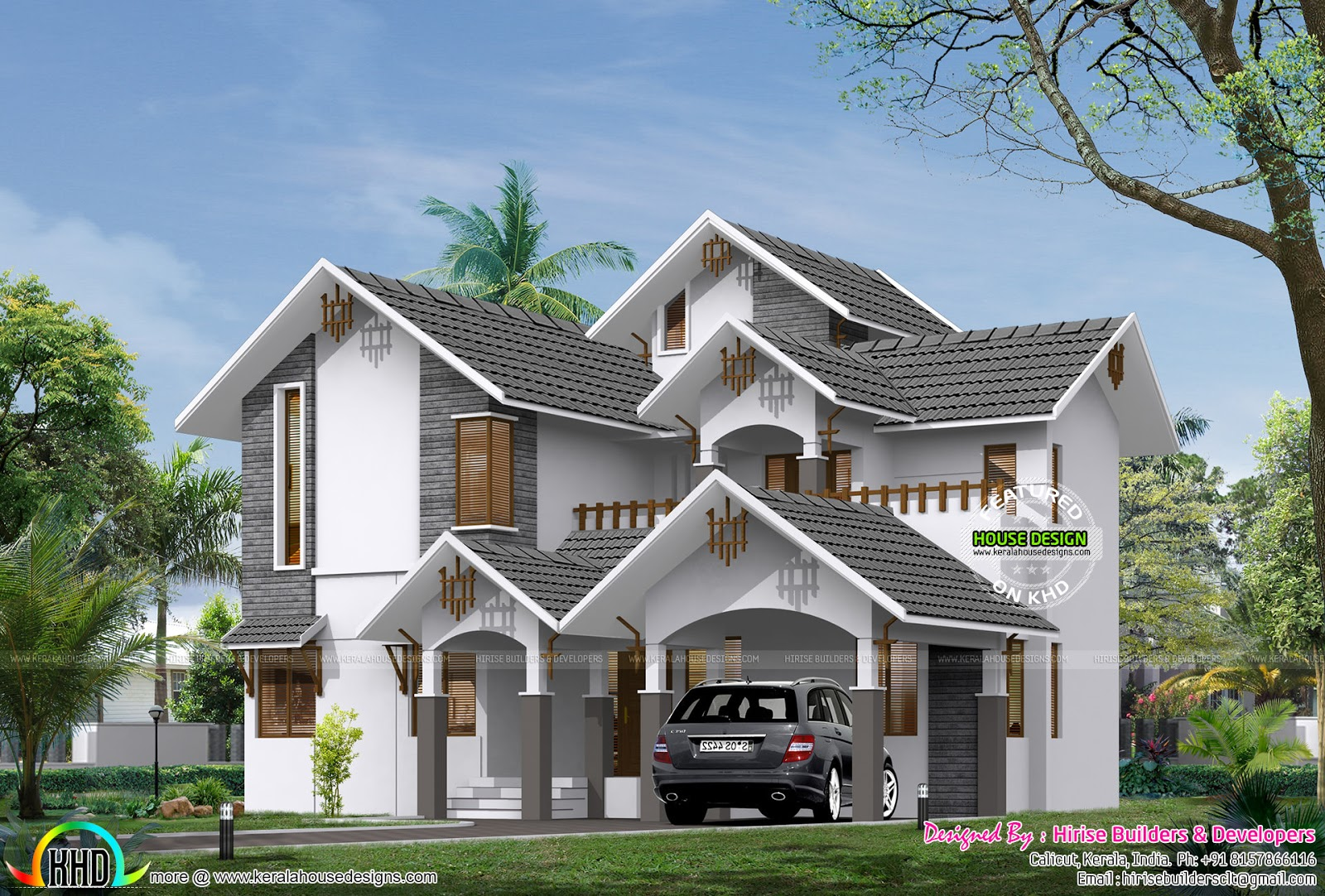 House design hilly area - 4 Bedroom Sloping Roof Home Plan In 269 Sqm