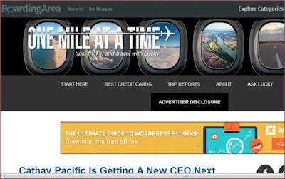 Flight related travel blog