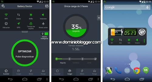 Extiende el uso de la bateria de tu telefono con Battery Doctor