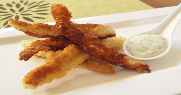 Crispy Chicken Strips With Coriander & Lime Mayonnaise Recipe