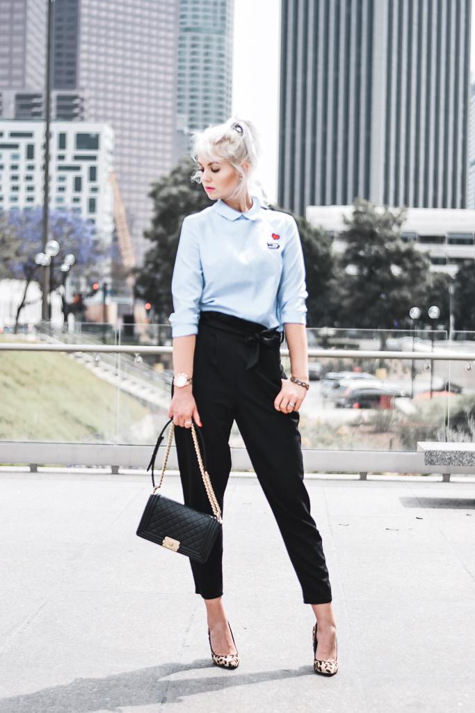 high waisted work pants