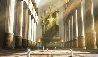5. wonders in the world Statue of Zeus at Olympia