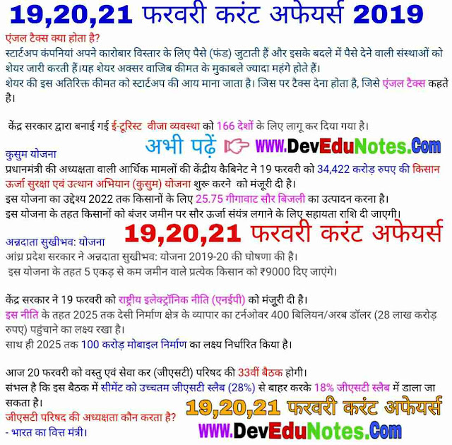 20 february current affairs 2019, 19 february current affairs 2019