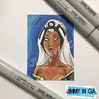 "Storm - Copic Markers on 2.5"" x 3.5"" Sketch Card"