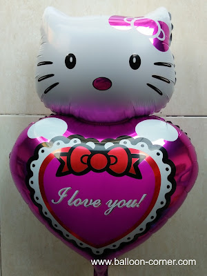 Balon Foil Hello Kitty I LOVE YOU