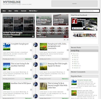 MyTimeLine Responsive Blogger Template Free Download