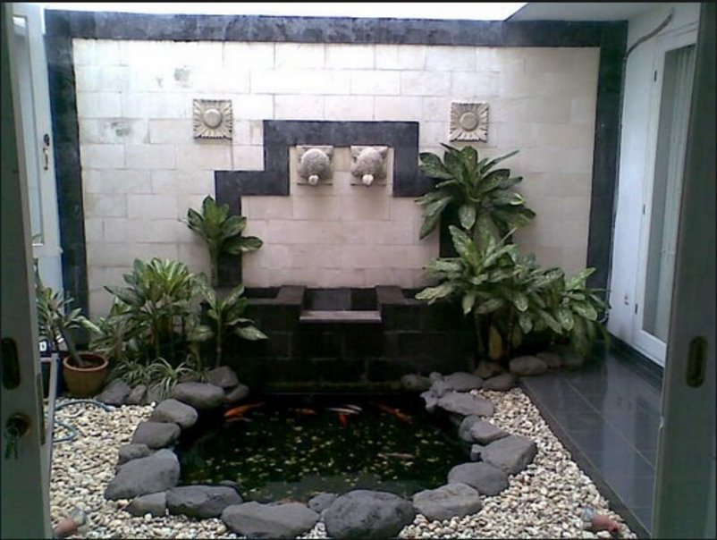 taman minimalis belakang rumah moderen
