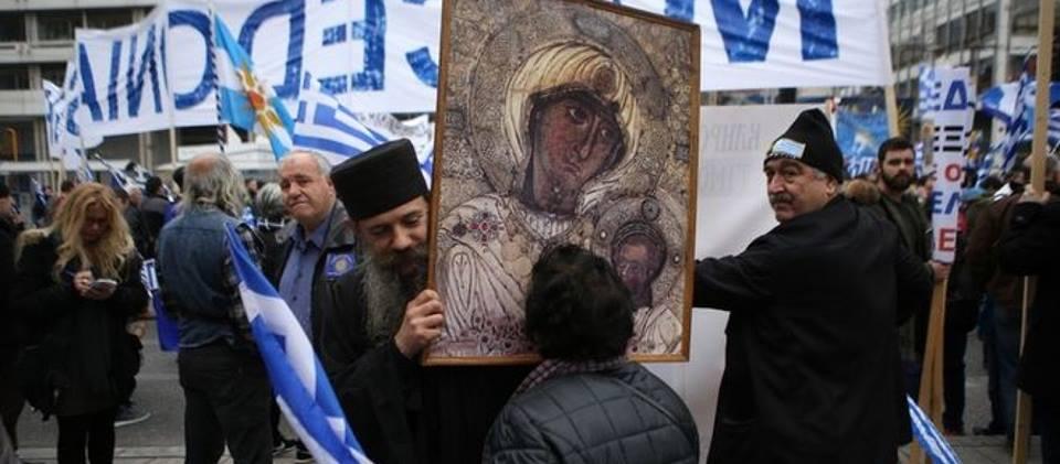 Αποτέλεσμα εικόνας για μοναχοι συλλαλητηριο