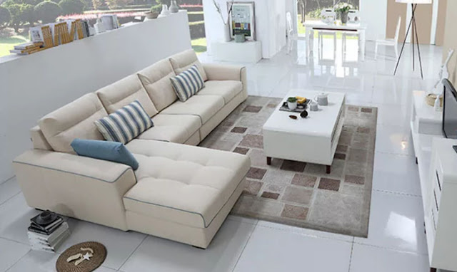 Bàn sofa màu trắng dễ phối màu với nhiều ghế sofa khác nhau
