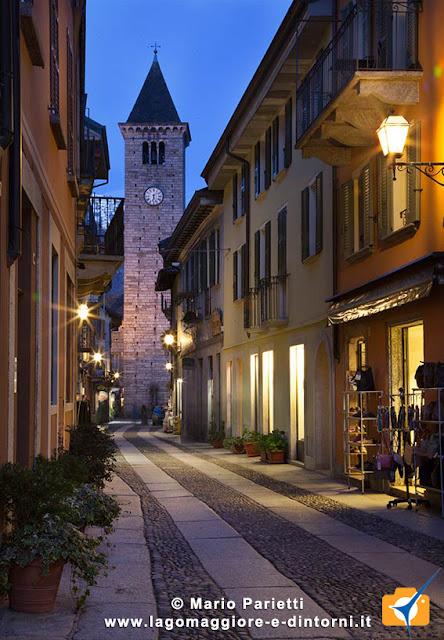 Notturno del centrio storico di Cannobio