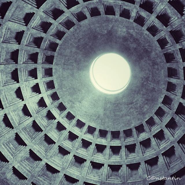 Roma - Clãdirea Panteonului (cupola) - cel mai vechi beton din lume - blog FOTO-IDEEA