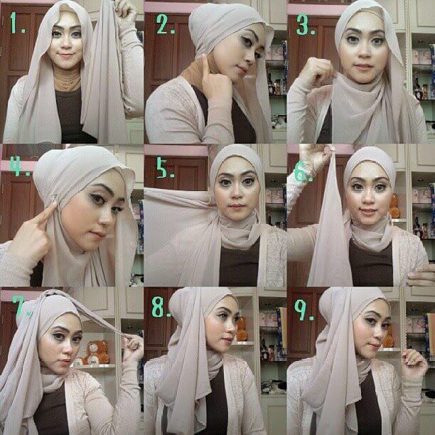 ... bisa memilih model jilbab segi empat sinkron menggunakan impian anda