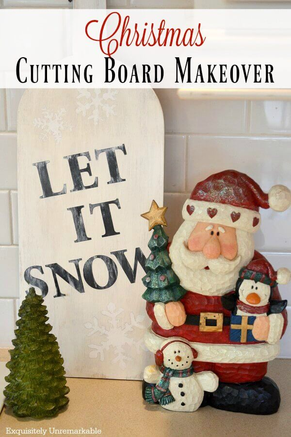 Christmas Cutting  Board Makeover DIY
