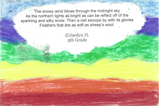 "Poetry Postcard: ""The snowy wind blows"""