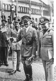 Mussolini and Hitler in Munich with Ciano second left in the picture