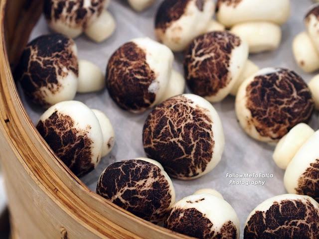 Mushroom Look-Alike Steamed Buns