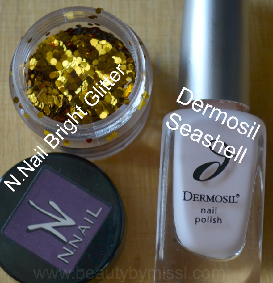 N.Nail 1.5mm Bright Glitter, Dermosil nail polish in Seashell, Dermoshop, KKCenterHk.com