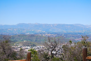 A view of the Santa Monica Mountains from Newbury Park, CA