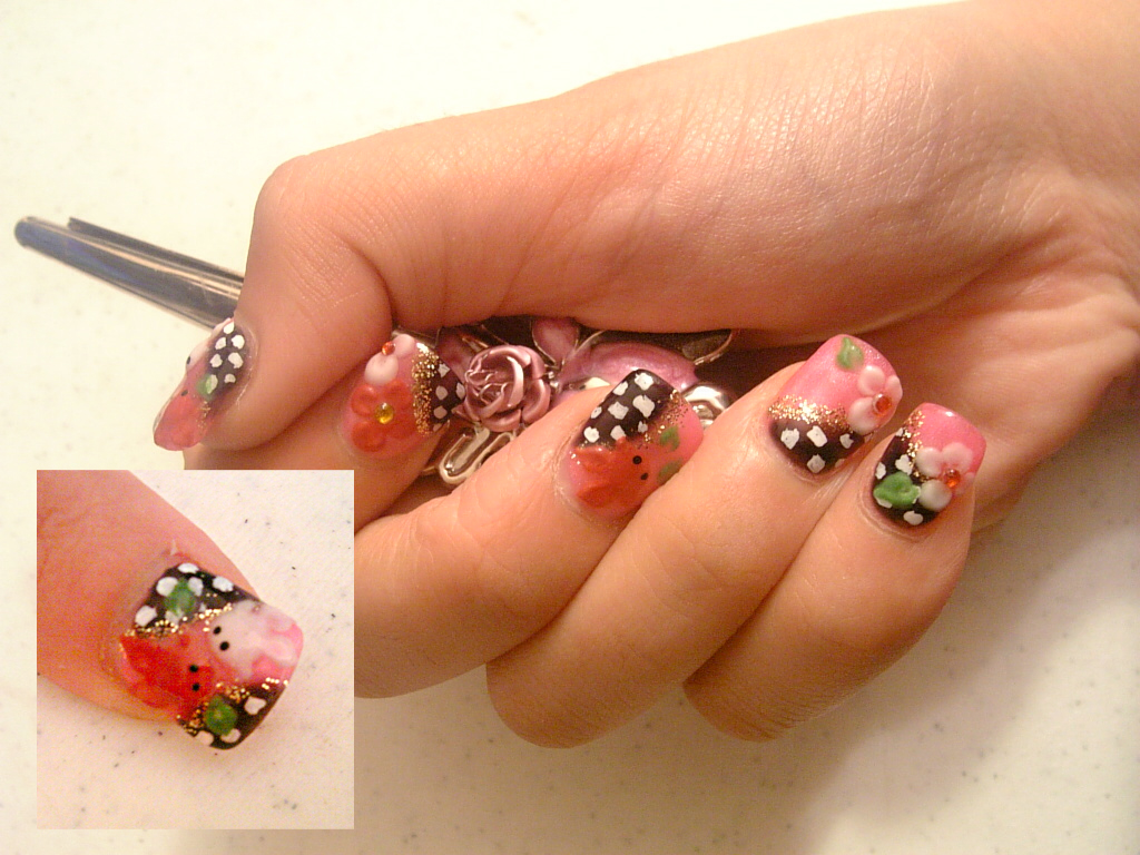 acrylic nails japanese nail art the way to fashionable go acrylic nails. Black Bedroom Furniture Sets. Home Design Ideas