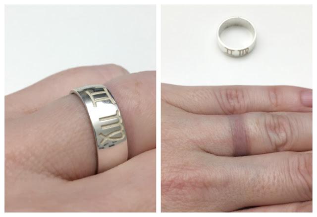 Personalisierter Ring von namesvorever.de