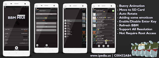 BBM MIUI DARK VERSION