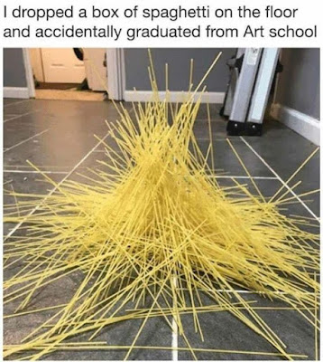 I dropped a box of spaghetti on the floor and accidentally graduated from Art school