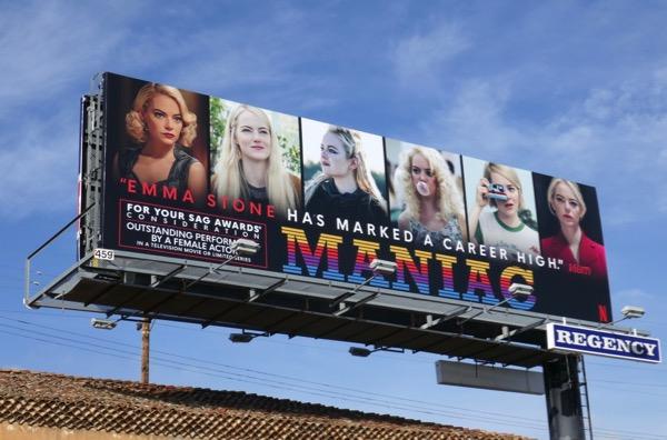 Emma Stone Maniac SAG Award nominee billboard