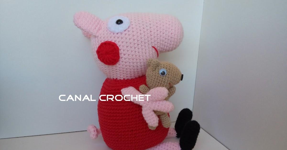 CANAL CROCHET: Peppa pig y su osito teddy amigurumi patrón libre.