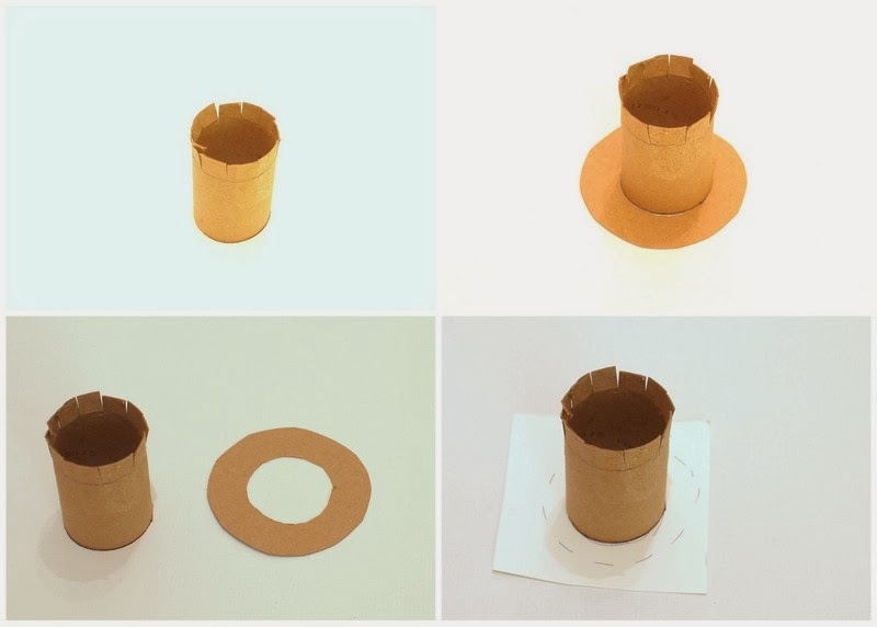 Steps to create Leprechaun Hat from Toilet paper Roll