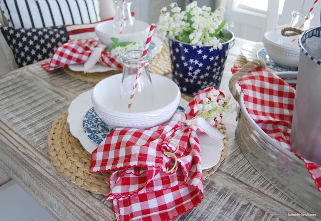 Home By Heidi 4th Of July Red White And Blue Table
