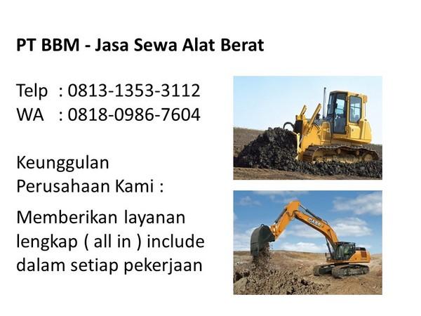 surat perjanjian rental alat berat excavator pdf di bandung dan jakarta
