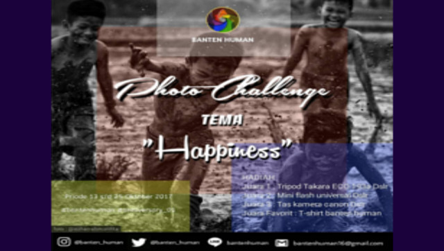 Happiness Photo Contest Berhadiah Tripod, Mini Flash, Tas Kamera & Kaos