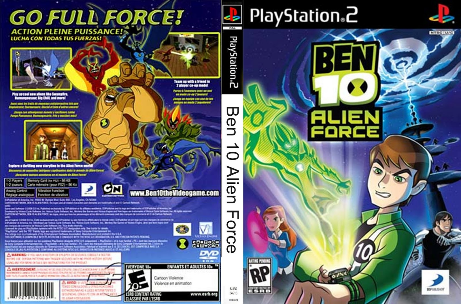 Download Game Ps2 Ben 10 (Alien Force) ISO Psx free